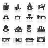 Hem- symbolsuppsättning 02 royaltyfri illustrationer