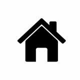 Hem- symbolsvektordesign Fotografering för Bildbyråer