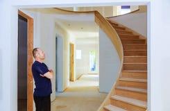 Hem- tak för bräde för gips för renoveringrumområde på konstruktion royaltyfria foton