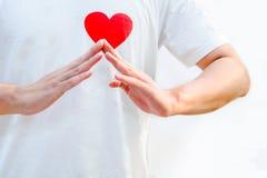 Hem- tecken för förälskelse Arkivfoton