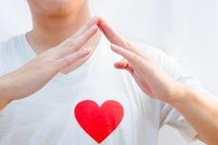 Hem- teckenspråk för förälskelse Royaltyfria Bilder