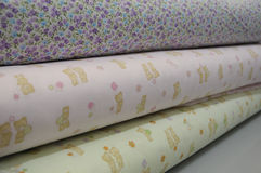 Hem- textiler Arkivbild