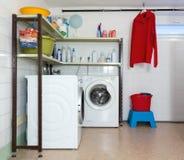 Hem- tvättstuga Arkivbilder