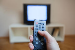 Hem- tv Arkivfoton