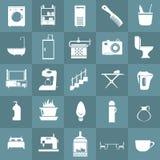 Hem- utrustningsymbolsuppsättning Royaltyfri Fotografi
