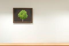 Hem- vägg och dekorativ ram, bildram Arkivbilder