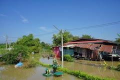 hem- vattenflod Arkivbild
