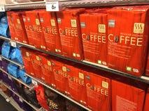 Hema filter coffee. Berlin, Germany - June 20, 2018: Hema filter coffee for sale. Hollandsche Eenheidsprijzen Maatschappij Amsterdam, or HEMA, is a Dutch Royalty Free Stock Image