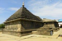 在马哈巴莱斯赫瓦尔的Hemadpanthi寺庙 库存图片