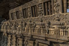 Hemadpanti-shiva Tempel, Hottal, Maharashtra stockbild