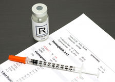 Hemaglobin A1C Fotografia Stock
