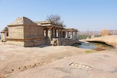 Hemakuta hill in Hampi. Karnataka, India.  stock photography