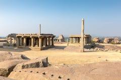Hemakuta hill temple, Hampi, Karnataka, India. Hemakuta hill temple in Hampi, Karnataka, India, Asia royalty free stock photos