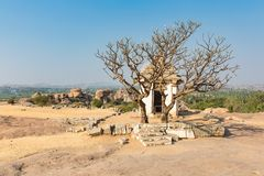 Hemakuta hill temple, Hampi, Karnataka, India. Hemakuta hill temple in Hampi, Karnataka, India, Asia stock images