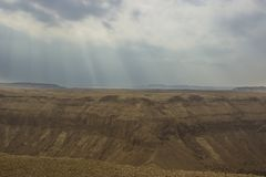 Hemar rzeka w Izraelickiej pustyni Zdjęcie Stock