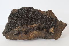 Hematite with Goethite mineral isolated Stock Photo