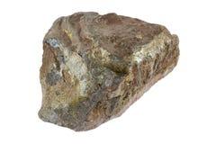 Hematite iron ore. Piece of hematite iron ore isolated on white Royalty Free Stock Photography