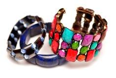 Hematite Lapis Lazuli Bracelets Stock Images