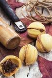 Hembakad mjölefterrätt Fotografering för Bildbyråer