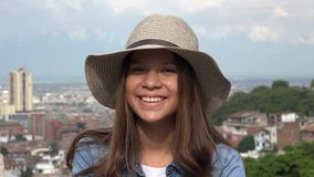 Hembra adolescente con la cara bonita Foto de archivo libre de regalías