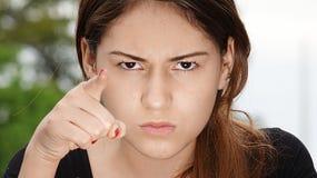 Hembra adolescente enojada Imagen de archivo