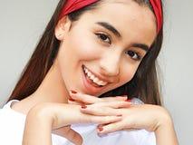 Hembra adolescente hermosa adorable Imagen de archivo libre de regalías