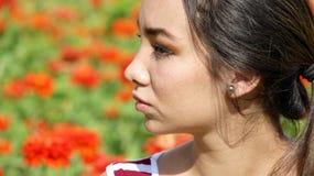 Hembra adolescente peruana linda impasible Fotografía de archivo libre de regalías