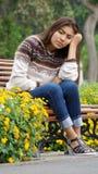 Hembra adolescente y depresión Foto de archivo libre de regalías