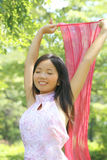 Hembra asiática hermosa Foto de archivo libre de regalías