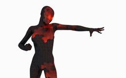 Hembra avanzada del cyborg Fotografía de archivo libre de regalías