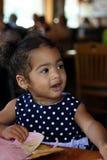 Hembra Bi-Racial negra del niño Foto de archivo