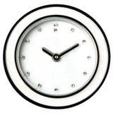 Hembra clásica de la joya de los diamantes del reloj de pared aislada Foto de archivo libre de regalías