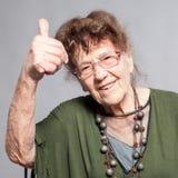 Hembra de la abuelita en el estudio Fotografía de archivo libre de regalías
