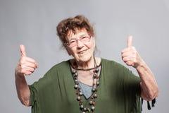 Hembra de la abuelita en el estudio Fotos de archivo