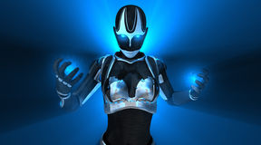 Hembra del Cyborg Imagenes de archivo