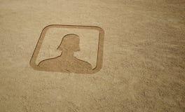 Hembra del icono del utilizador Imagen de archivo libre de regalías