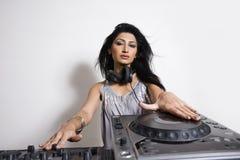 Hembra DJ Imagen de archivo