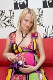 Hembra embarazada Foto de archivo libre de regalías