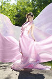 Female in pink Fotografía de archivo libre de regalías