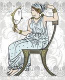 Hembra griega stock de ilustración