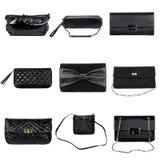 Hembra oscura purses-1 fotografía de archivo libre de regalías
