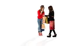 Hembras jovenes en el moll de las compras Fotografía de archivo