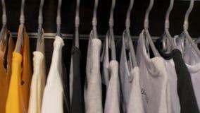 Hemden im Speicher stock footage