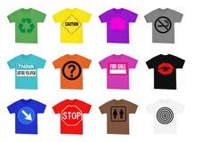 Hemden mit Zeichen Stockfoto