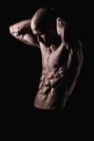 Hemdloser und geeigneter Mann Stockfotografie