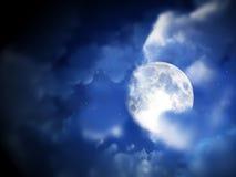 Hemel 5 van de Nacht van de maan Stock Afbeelding