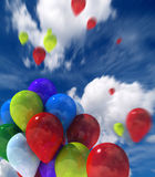 hemel ballons Royalty-vrije Stock Afbeelding