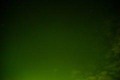 Hemel bij groene nacht stock foto