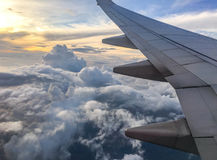 Hemel bij vliegtuig Royalty-vrije Stock Fotografie