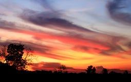 Hemel bij zonsondergang Royalty-vrije Stock Fotografie